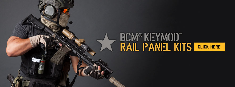 BCM KeyMod Rail Panel Kits.