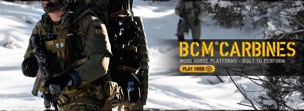 BCM® Carbines. Click to play.